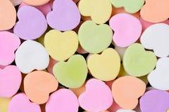 Cuori di Candy macro Immagini Stock