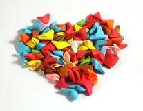 Cuori di carta di origami Immagini Stock