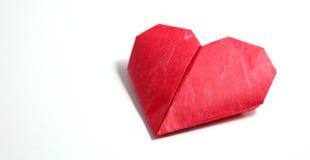 Cuori di carta di origami Fotografie Stock Libere da Diritti
