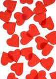 Cuori di carta rossi Fotografie Stock