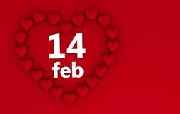 Cuori di giorno dei biglietti di S. Valentino Immagini Stock