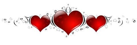 Cuori di giorno dei biglietti di S. Valentino Immagini Stock Libere da Diritti