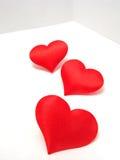 Cuori di giorno del biglietto di S. Valentino Fotografie Stock Libere da Diritti