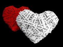 Cuori di giorno del biglietto di S. Valentino Fotografia Stock Libera da Diritti