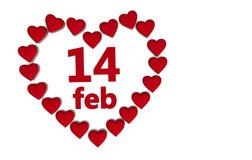 Cuori di giorno del biglietto di S. Valentino Fotografie Stock