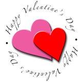 Cuori di giorno del biglietto di S. Valentino Immagine Stock Libera da Diritti