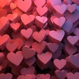 Cuori di giorno del biglietto di S. Valentino Fotografia Stock