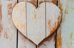 Cuori di legno a forma di Fotografia Stock Libera da Diritti