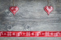 Cuori di Natale Fotografie Stock Libere da Diritti