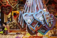 Cuori di Oktoberfest Fotografie Stock