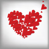 Cuori di Origami. Scheda di giorno del biglietto di S. Valentino Fotografia Stock Libera da Diritti