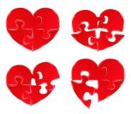 Cuori di puzzle Immagine Stock