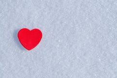 Cuori di Snowy Fotografie Stock