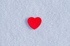 Cuori di Snowy Immagine Stock