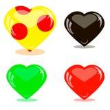 Cuori di vetro delle icone Fotografia Stock