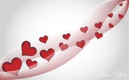 Cuori di volo del fondo di amore Immagini Stock Libere da Diritti