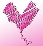 Cuori e caratteri di amore Immagine Stock Libera da Diritti