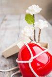 Cuori e fiori Fotografie Stock