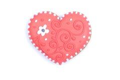 Cuori e fiori al biglietto di S. Valentino isolato su spirito bianco del fondo Fotografie Stock