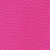 Cuori e puntini neri nel colore rosa Fotografia Stock Libera da Diritti