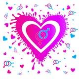 Cuori ENV 10 di giorno del ` s del biglietto di S. Valentino Immagine Stock Libera da Diritti
