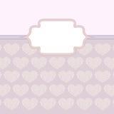 Cuori fatti della scheda del biglietto di S. Valentino delle rose illustrazione vettoriale