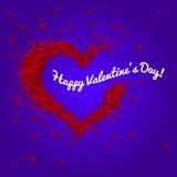 Cuori felici di vettore di San Valentino Fotografie Stock