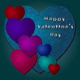 Cuori felici di vettore di San Valentino Immagini Stock Libere da Diritti