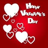 Cuori felici di vettore di San Valentino Immagini Stock