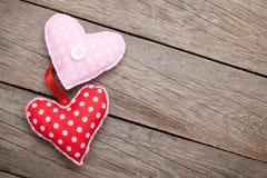 Cuori handmaded del giocattolo di giorno di biglietti di S. Valentino Fotografia Stock