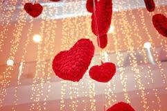 Cuori il giorno del ` s del biglietto di S. Valentino fotografia stock