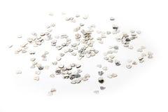 Cuori metallici olografici Immagine Stock