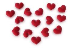 Cuori multipli che formano un cuore Fotografia Stock Libera da Diritti
