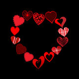 Cuori nella forma del cuore Fotografia Stock Libera da Diritti