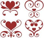 Cuori ornamentali Immagini Stock Libere da Diritti