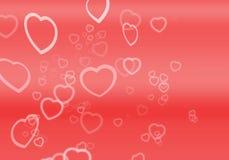 Cuori per i biglietti di S. Valentino royalty illustrazione gratis