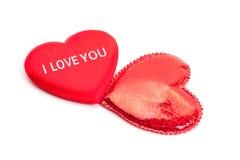 Cuori per il giorno del biglietto di S. Valentino Immagini Stock Libere da Diritti