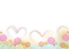 Cuori per il giorno del biglietto di S. Valentino Immagine Stock