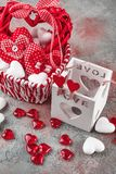 Cuori per il giorno del ` s del biglietto di S. Valentino Fotografia Stock Libera da Diritti