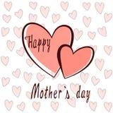 Cuori per il giorno del ` s della madre Immagini Stock Libere da Diritti