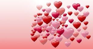 Cuori pieni di bolle dei biglietti di S. Valentino Immagini Stock Libere da Diritti
