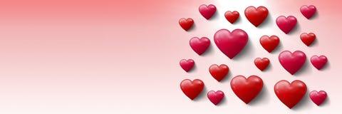 Cuori pieni di bolle dei biglietti di S. Valentino Fotografia Stock