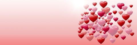 Cuori pieni di bolle dei biglietti di S. Valentino Fotografie Stock