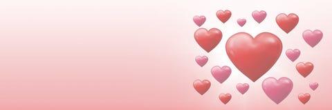 Cuori pieni di bolle dei biglietti di S. Valentino Fotografia Stock Libera da Diritti