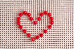 Cuori presentati dagli elementi del mosaico Automobile di saluto di giorno del ` s del biglietto di S. Valentino Immagine Stock