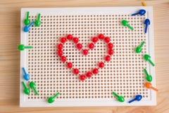 Cuori presentati dagli elementi del mosaico Automobile di saluto di giorno del ` s del biglietto di S. Valentino Fotografia Stock Libera da Diritti