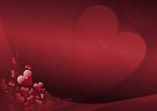 Cuori romantici Fotografia Stock