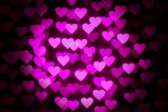 Cuori rosa del biglietto di S. Valentino fotografia stock
