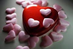 Cuori rosa di stoffa стоковое фото rf