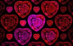 Cuori rosa e rossi illustrazione vettoriale